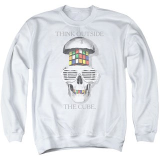 Rubik's Cube/Outside The Cube Adult Crew Sweat in White