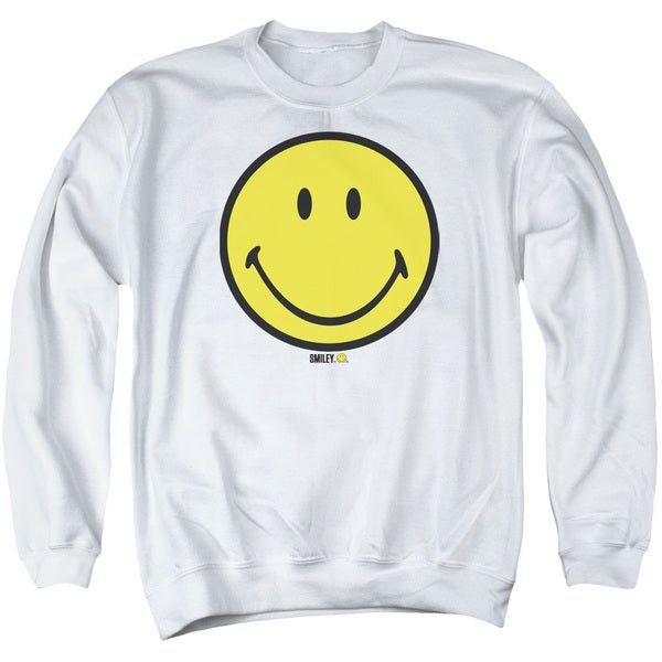 Smiley World/Basic Smiley Adult Crew Sweat in White