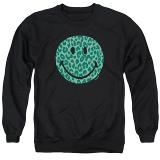 Smiley World/Purrfect Face Adult Crew Sweat in Black