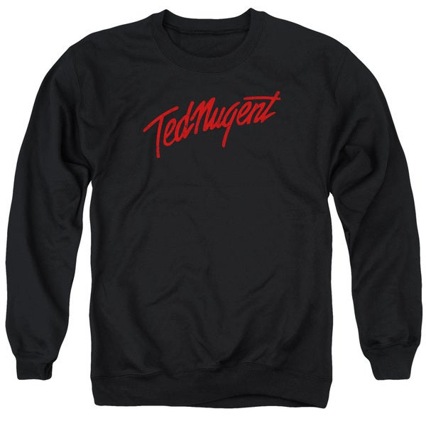 Ted Nugent/Distress Logo Adult Crew Sweat in Black