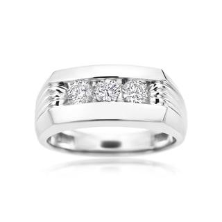 SummerRose 14k White Gold 1-carat Diamond Men's Ring (H-I, SI2-I1)