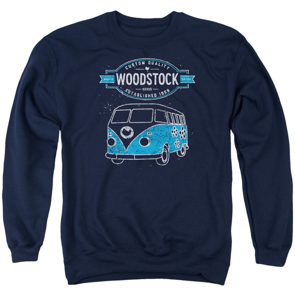 Woodstock/Van Adult Crew Sweat in Navy