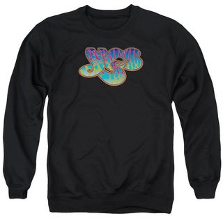Yes/Logo Adult Crew Sweat in Black