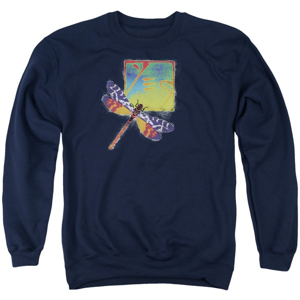 Yes/Dragonfly Adult Crew Sweat in Navy