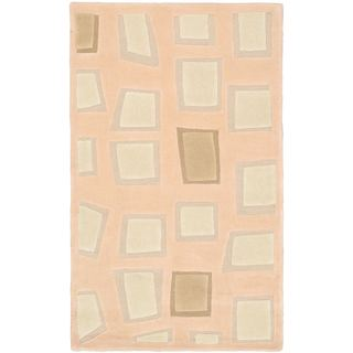 eCarpetGallery Soho Ivory/Beige Cotton and Wool Mosaic Rug (2'11 x 4'11)