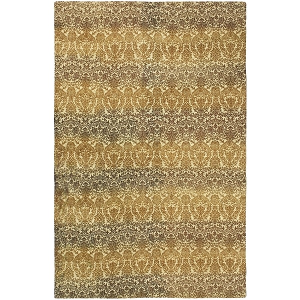 eCarpetGallery Vibrance Dhurrie Yellow/Brown Wool/Cotton Rug (4'11 x 7'9) 19162136