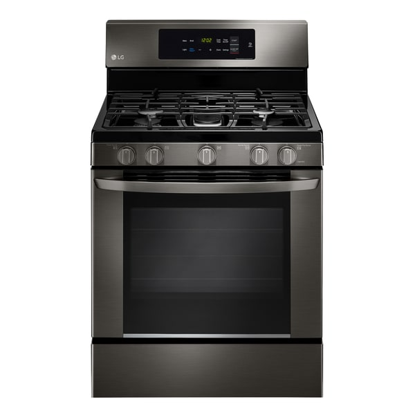 LG LRG3061BD Black Stainless Steel 5.4-cubic-foot EasyClean Single-oven Gas Range