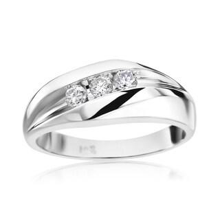 SummerRose Men's 14k White Gold 1/3ct TDW H-I, SI2-I1 Diamond Ring