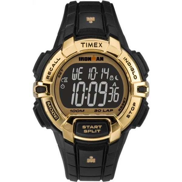 Timex TW5M063009J Ironman Rugged 30 Hollywood Black/Goldtone Resin/Acrylic/Stainless Steel Full-size Unisex Strap Watch