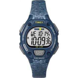 Timex Women's TW5M074009J Ironman Classic 30 Blue Resin Strap Mid-size Watch