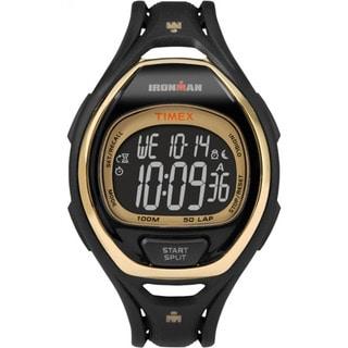Timex TW5M060009J Ironman Sleek 50 Hollywood Black/Goldtone Resin/Acrylic/Stainless Steel Full-size Unisex Strap Watch