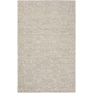 eCarpetGallery Javier Grey/Ivory Polyester Handmade Rug (4'11 x 7'10)