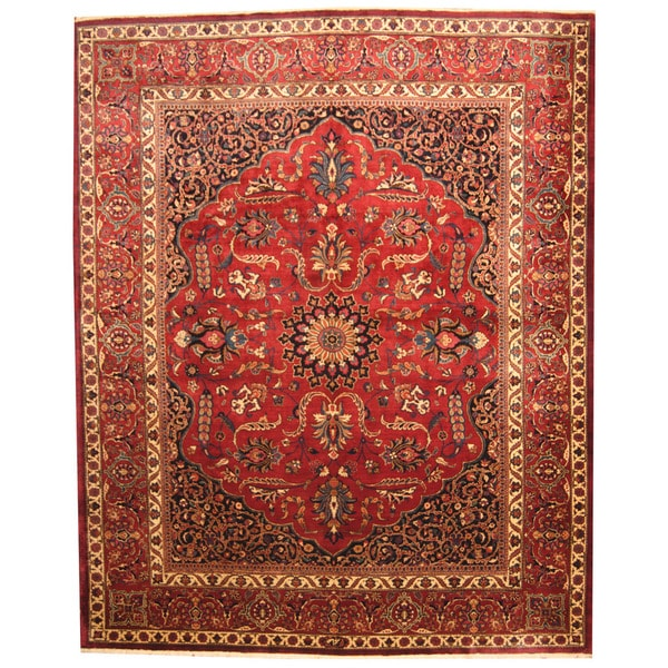 Herat Oriental Persian Hand-knotted 1940s Semi-antique