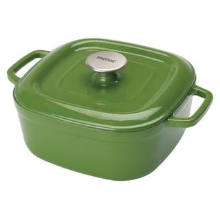 Bayou Classic Green Enameled Cast Iron 4-quart Dutch Oven