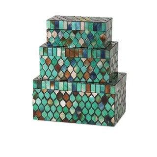 Darwin Mosaic Glass Boxes (Set of 3)