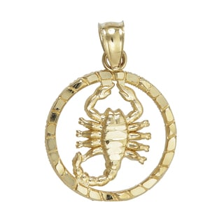 Decadence 14-carat Yellow Gold Scorpion Dangling Pendant