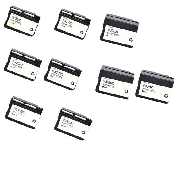 2Set+1BK Compatible 932 XL BK 933XL C M Y Ink Cartridge For HP OfficeJet HP OfficeJet 6600 HP OfficeJet 6700 ( Pack of 1 )