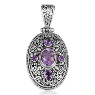 Amethyst Sterling Silver Mystic Wisdom Cawi Pendant (Indonesia)