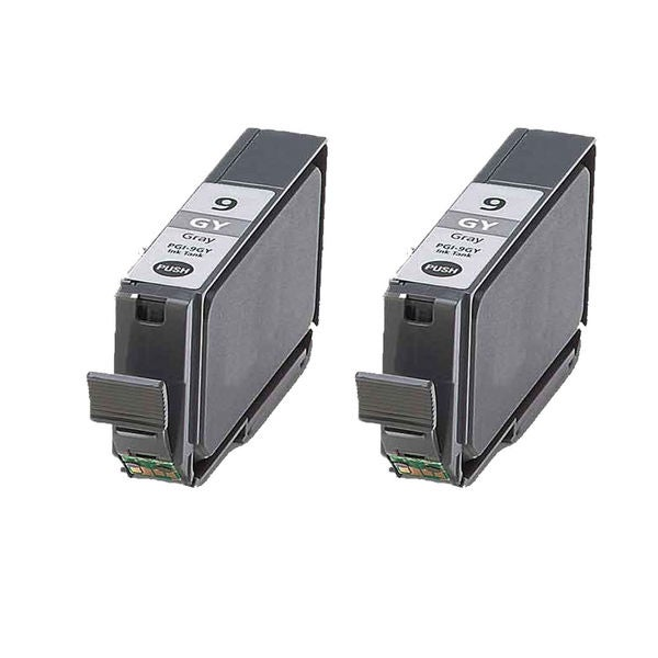 2PK Compatible PGI-9GY Ink Cartridge For Canon PIXMA Pro9500 ( Pack of 2 )