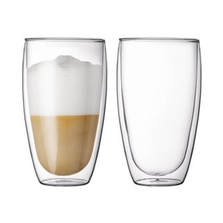 Bodum Pavina Clear 15-ounce Double-wall Thermo Large Glasses (Set of 2)