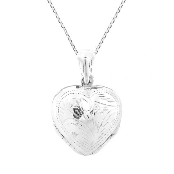 Handmade 4 Layer Lucky Heart Locket Pendant .925 Silver Necklace (Thailand) 19166542