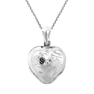 4 Layer Lucky Heart Locket Pendant .925 Silver Necklace (Thailand)