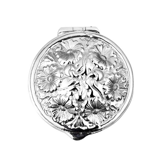 Handmade Embossed Victorian Floral .925 Silver Gift Box Keepsake (Thailand) 19166596