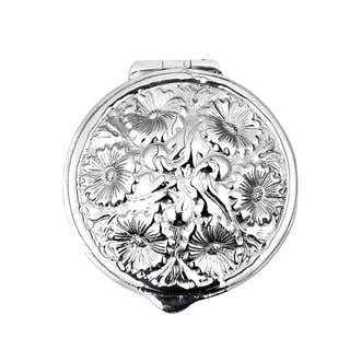 Embossed Victorian Floral .925 Silver Gift Box Keepsake (Thailand)