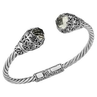 Prasiolite Sterling Silver Deep Jungle Cawi Cuff Bracelet (Indonesia)