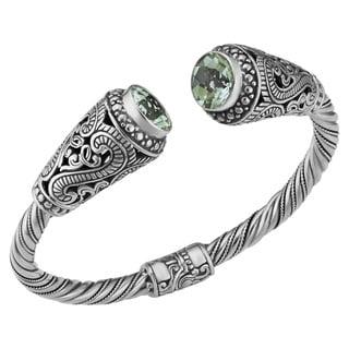 Prasiolite Sterling Silver Sky's Heart Cawi Cuff Bracelet (Indonesia)