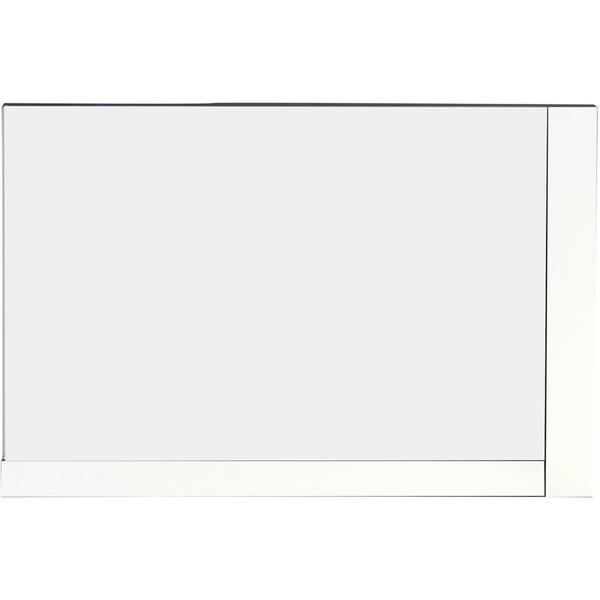 35.5-in. W x 23.5-in. H Modern Plywood-Veneer Wood Mirror In White - 35.5 x 23.5 19167050