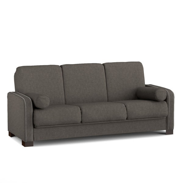 Better Living Convert-a-Couch Sofa Sleeper in Tan-Grey Linen