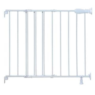 Summer Infant Top of Stairs Simple to Secure White Metal Walk-thru Gate