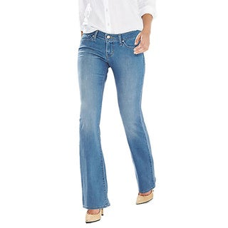 Levi's Women's 505 Blue Cotton Straight-leg Mid-rise Maternity Jeans