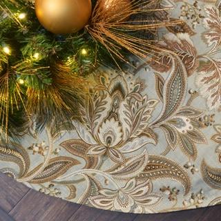Valdosta Mist Multi-color Linen 53-inch Tree Skirt
