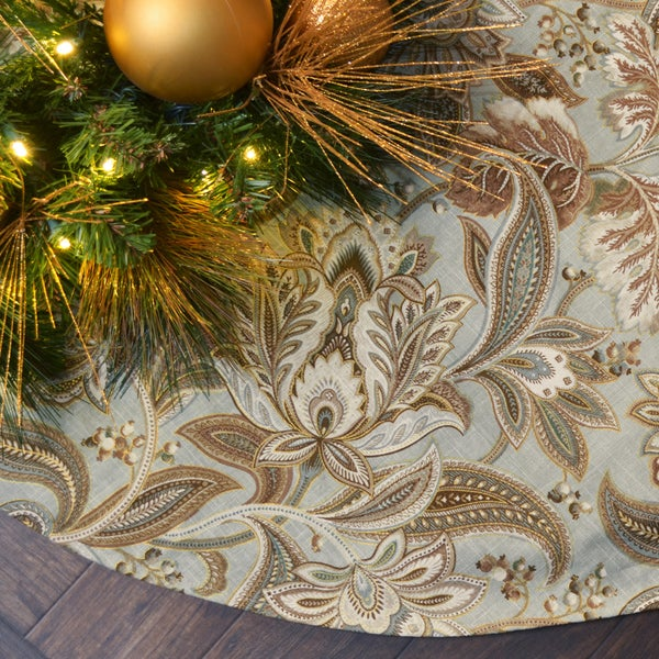 Valdosta Mist Multi-color Linen 53-inch Tree Skirt