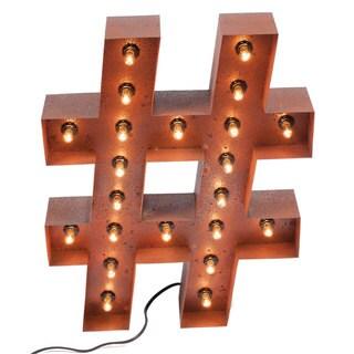 Vintage Hashtag Marquee Light