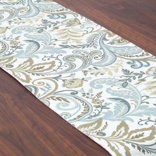 Findlay Seaglass Blue/Tan/Off-white Linen/Polyester 12.5-inch x 72-inch Runner