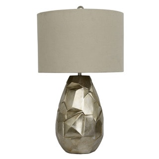 Sculpted Silver Leaf Table Lamp