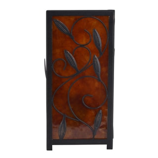 J Hunt and Company Amber Bronze Steel Faux Mica Square Uplight