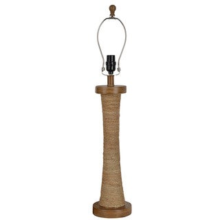 J Hunt and Company Natural Jute and Resin Wrapped Table Lamp