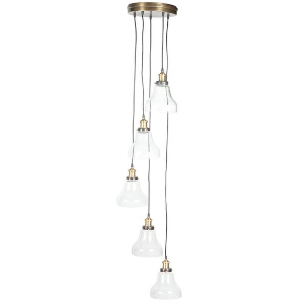 Rowan Bronze/Glass Chandelier