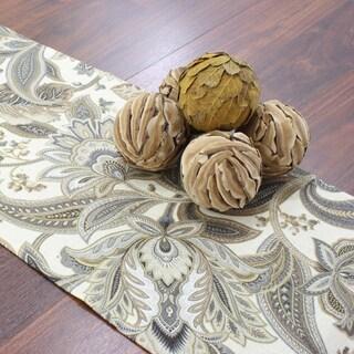 Valdosta Driftwood Tan/Off-white Linen/Polyester 12.5-inch x 72-inch Runner
