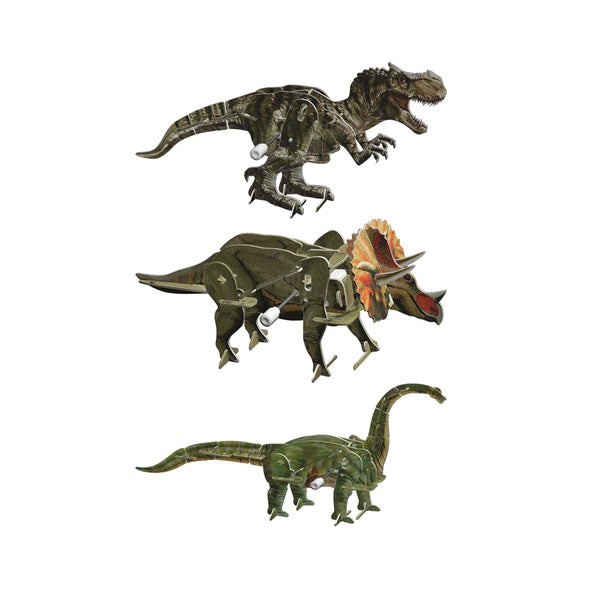 Smithsonian 6-inch x 5-inch x 4-inch 3D Motorized Dinosaur Puzzle (Pack of 3) 19168065