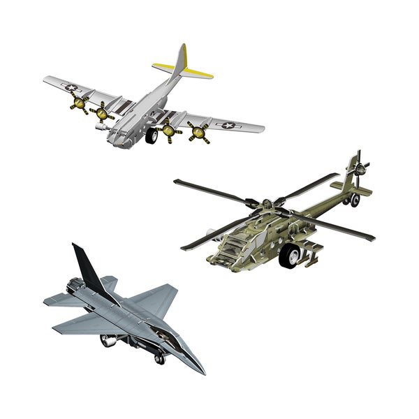 Smithsonian 3-D Flight Motorized Puzzles (set of 3)