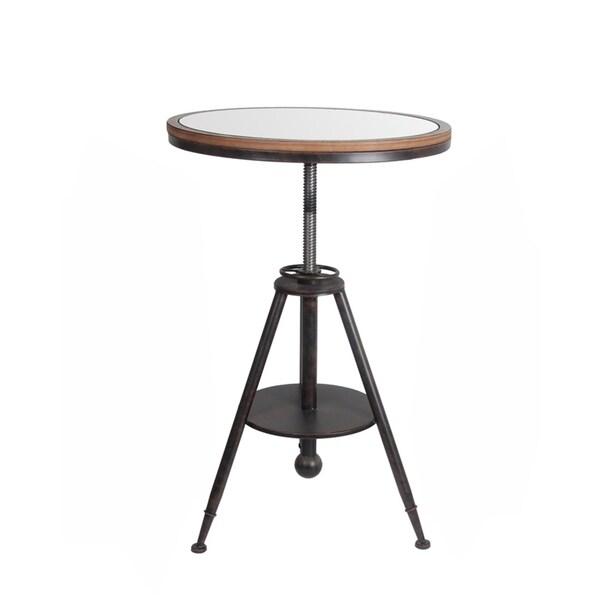 Privilege Dark Brown Metal Adjustable Side Table