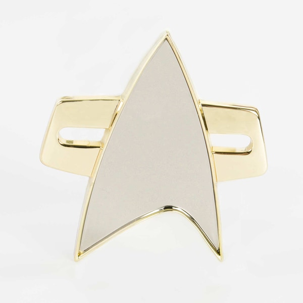 Quantum Mechanix 'Star Trek: Voyager' Gold and Silver Finished Communicator Badge