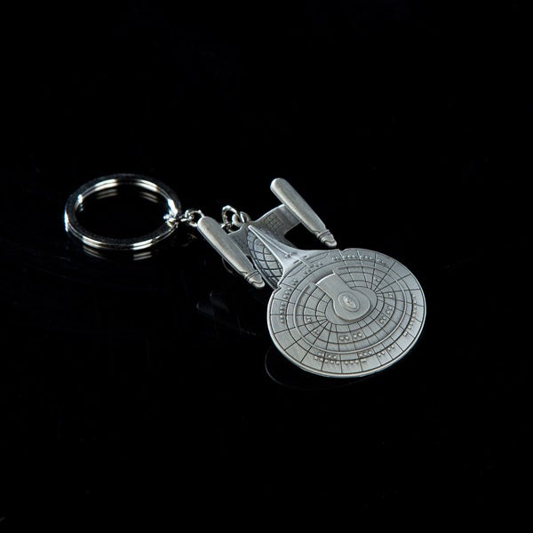 Quantum Mechanix Star Trek U.S.S. Enterprise NCC-1701-D Zinc/Steel Alloy Key Chain