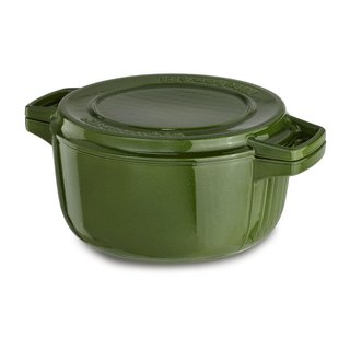 KitchenAid KCPI40CRIG Professional Greeen Cast Iron, Porcelain 4-quart Casserole Cookware