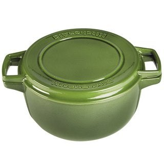 KitchenAid KCPI60CRIG Professional Ivy Green Cast Iron 6-quart Casserole Cookware